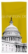 Washington Dc Skyline The Capital Building - Gold Bath Towel