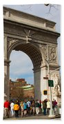 Washington Square Arch New York City Bath Towel