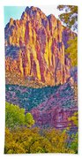 Watchman's Peak In Zion National Park-utah Bath Towel
