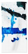 Water Dance - Blue And White Art By Sharon Cummings Bath Towel