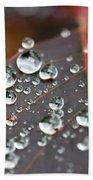 Water Drops On Cotinus Bath Towel