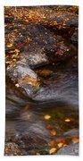 Water Flow Through The Boulders. Eureka. Mauritius Bath Towel
