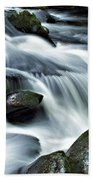 Water Flowsthrough The Mountains Bath Towel