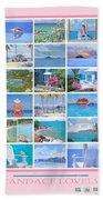 Water Island Poster Hand Towel