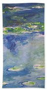 Water Lilies Giverny Bath Towel