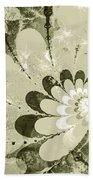 Water Lilies Spirals Bath Towel