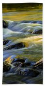 Beautiful Water Reflections On The Flowing Thornapple River Bath Towel