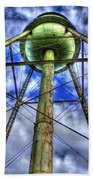 Mary Leila Cotton Mill Water Tower Art  Bath Towel