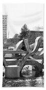 Water Sculpture In Spokane Bath Towel