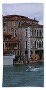 Water Taxi In Venice Bath Towel