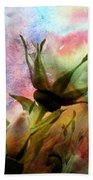 Watercolor Roses Bath Towel
