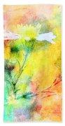 Watercolor Wildflowers - Digital Paint Bath Towel