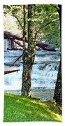 Waterfall And Hammock In Summer 3 Bath Towel