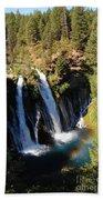 Waterfall And Rainbow Bath Towel