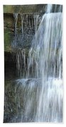 Waterfall At Old Man's Cave Bath Towel