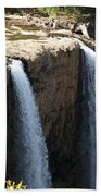 Waterfall From The Top Bath Towel