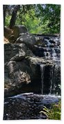 Waterfall In The Woods Bath Towel
