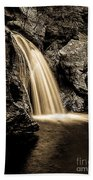 Waterfall Stowe Vermont Sepia Tone Bath Towel