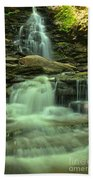 Waterfalling Through Ricketts Glen Bath Towel
