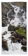 waterfalls in Pre Saint Didier Bath Towel