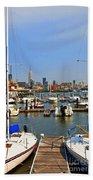 Waterfront View Hoboken Bath Towel