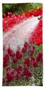 Watering The Garden Bath Towel