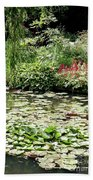 Waterlily Pond Giverney Bath Towel