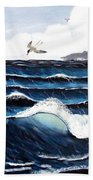 Waves And Tern Hand Towel
