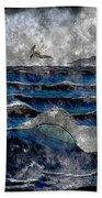 Waves - Ocean - Steel Engraving Bath Towel