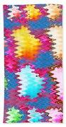 Waves Pattern Crystals Jewels Rose Flower Petals Bath Towel