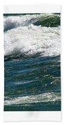 Waves Triptych Ll Bath Towel