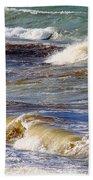 Waves - Wind - Fury Of The Sea Bath Towel