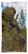 Waving Rock At Yellowstone Bath Towel