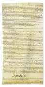 We The People Constitution Page 2 Bath Towel