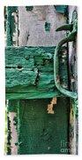 Weathered Green Paint Bath Towel