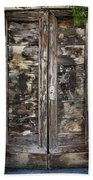 Weathered Wood Door Venice Italy Bath Towel
