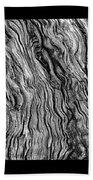 Weathered Wood Triptych Bw Bath Towel