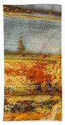 Weathered Wooden Boat - Abstract Bath Towel