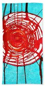 Web Of Life Original Painting Bath Towel