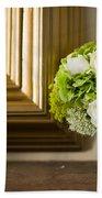 Wedding Bouquet And Mirror Bath Towel