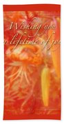 Wedding Joy Greeting Card - Turks Cap Lilies Bath Towel