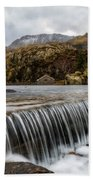 Weir At Ogwen Bath Towel