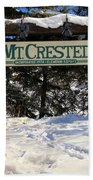 Welcome To Mt Crested Butte Bath Towel