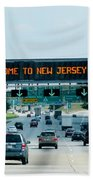 Welcome To New Jersey Bath Towel