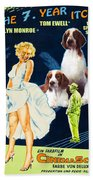 Welsh Springer Spaniel Art Canvas Print - The Seven Year Itch Movie Poster Bath Towel