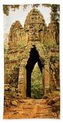 West Gate To Angkor Thom Bath Towel