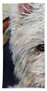 West Highland Terrier Dog Portrait Bath Towel