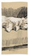 West Highlander, 1930 Bath Towel