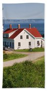 West Quaddy Lighthouse Bath Towel
