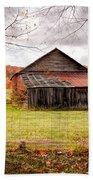 West Virginia Barn In Fall Bath Towel